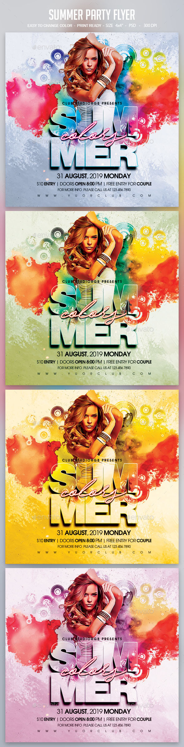 Flyers PSD – Summer Occasion Flyer – Download