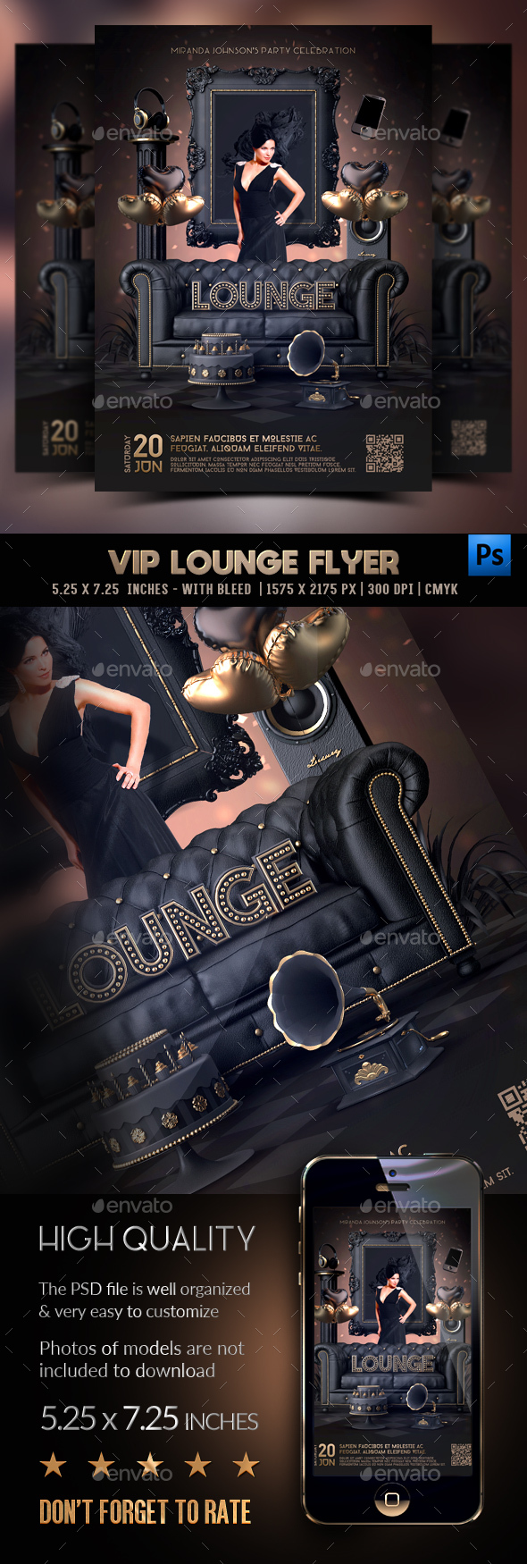 Flyers PSD – Vip Lounge Flyer – Download