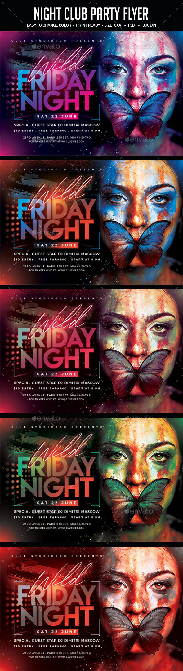 Flyers PSD – Night Membership Birthday celebration Flyer – Download