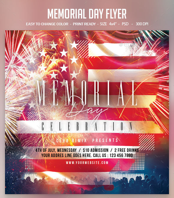 Flyers PSD – Memorial Day Flyer – Download