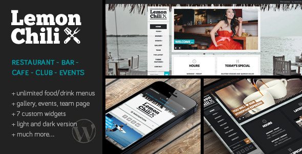 LemonChili – A Restaurant WordPress Theme – WP Theme Download