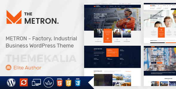 Metron – Commerce and Constructing WordPress Theme – WP Theme Download