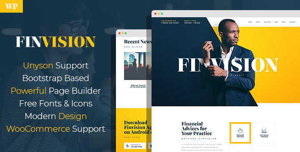 Finvision – Monetary Consulting WordPress Theme – WP Theme Download