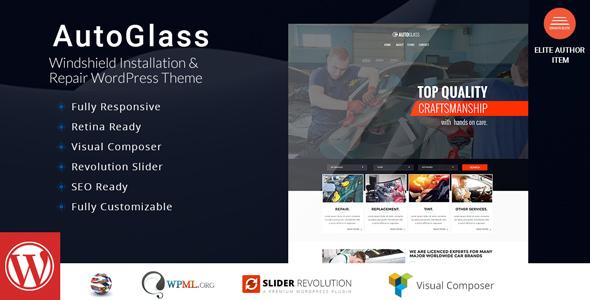 AutoGlass – Windshield Set up & Restore WordPress Theme – WP Theme Download