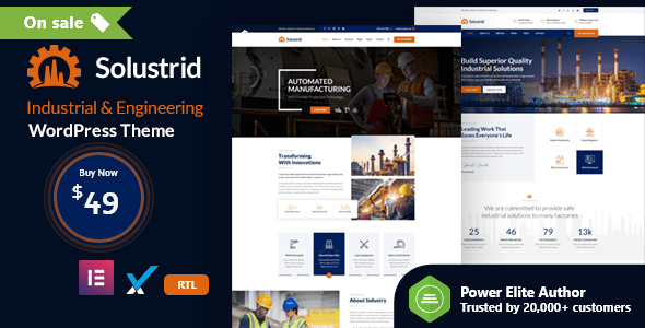 Solustrid – Factory & Industrial Industry WordPress Theme  – WP Theme Download