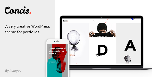 Concis – Artistic Portfolio Theme – WP Theme Download