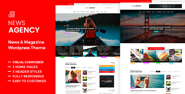NewsAgency – Journal Newspaper – WP Theme Download