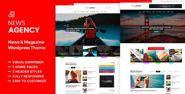 NewsAgency – Journal Newspaper – WP Theme Download