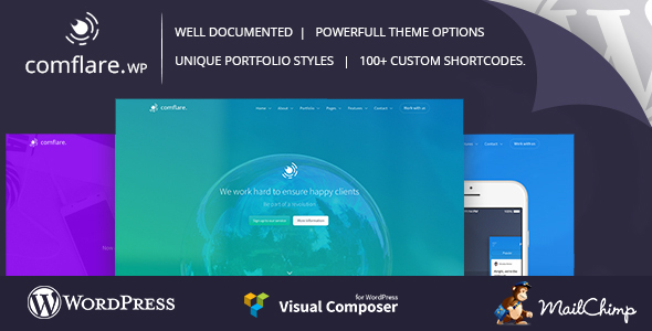 Comflare – Multipurpose WordPress Theme – WP Theme Download
