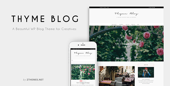 Thyme – A Blog & Store Theme for WordPress – WP Theme Download