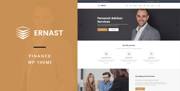 Ernast – Industry & Finance Theme – WP Theme Download