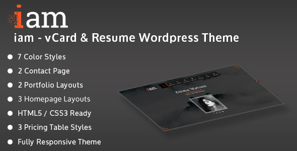 iam – Resume / Deepest / Portfolio Responsive WordPress Theme – WP Theme Download