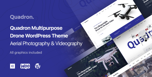 Aerial Pictures & Videography UAV WordPress Theme – Quadron – WP Theme Download