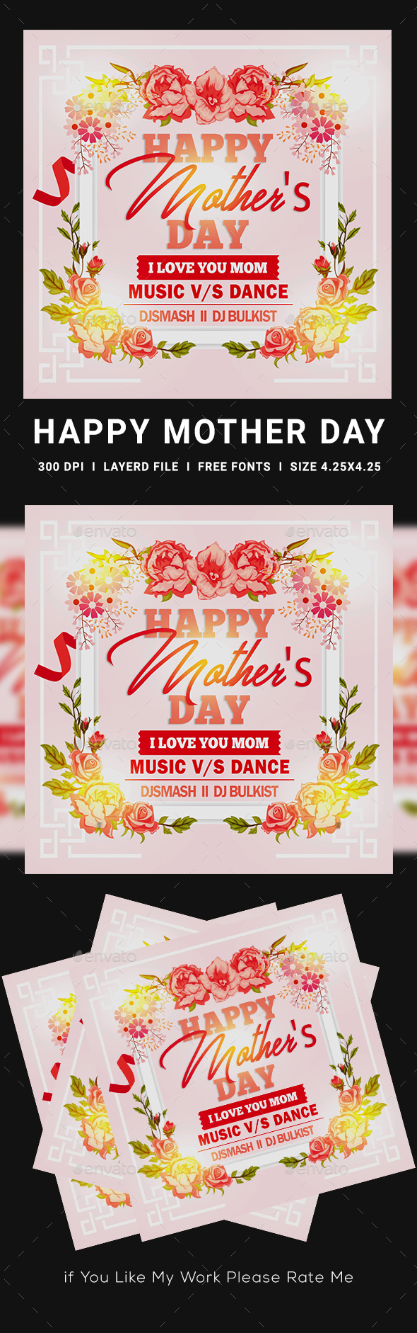Flyers PSD – Mothers Day – Download