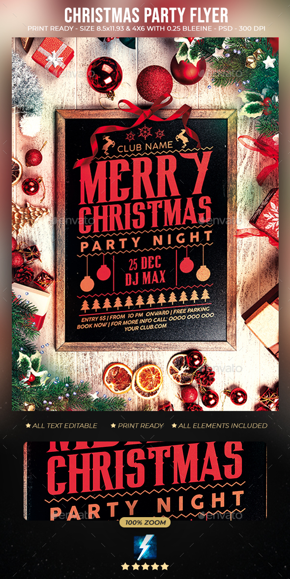 Flyers PSD – Christmas Celebration Flyer – Download