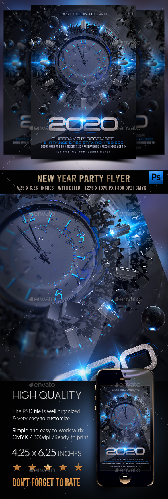 Flyers PSD – New Years Eve Flyer – Download
