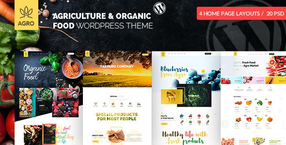 Agro – Organic Farm Agriculture WordPress Theme  – WP Theme Download