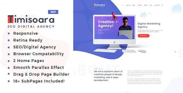 Timisoara – Digital Marketing WordPress Theme – WP Theme Download