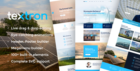 Textron – Industrial WordPress Theme + WooCommerce Shop – WP Theme Download