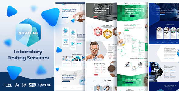NovaLab – Science Be taught & Laboratory  – WP Theme Download
