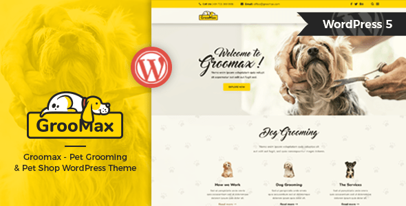 Groomax – Pet Grooming & Shop WordPress Theme – WP Theme Download