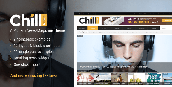 Sit down again News – Magazine Theme – WP Theme Download