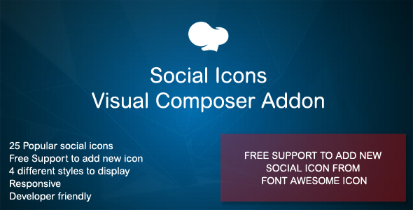 Social Icons Visible Composer Addon – PHP Script Download