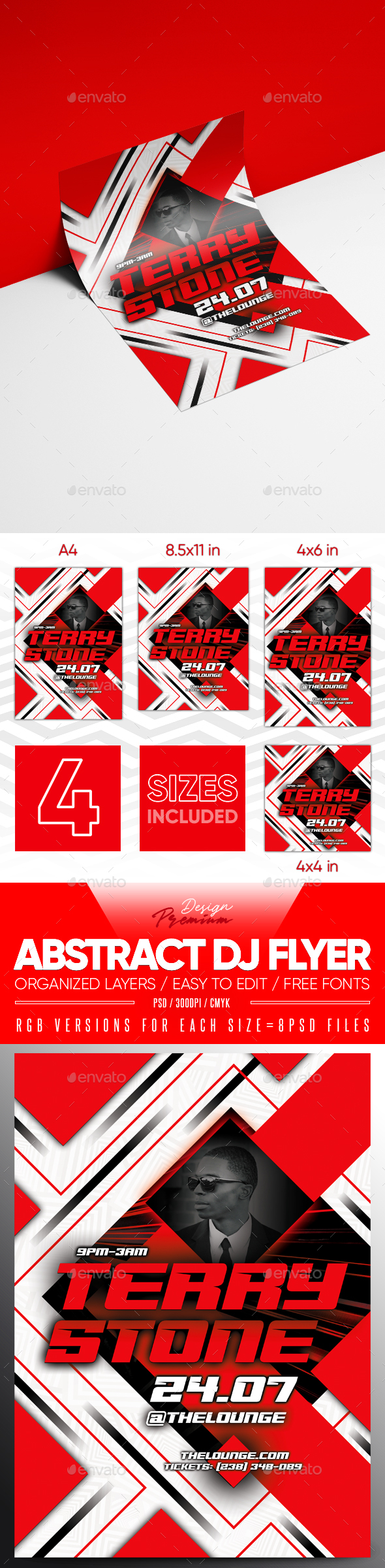 Flyers PSD – Abstract DJ Flyer – Download