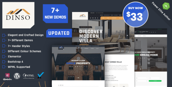 Dinso – Single Property & Home WordPress Theme – WP Theme Download