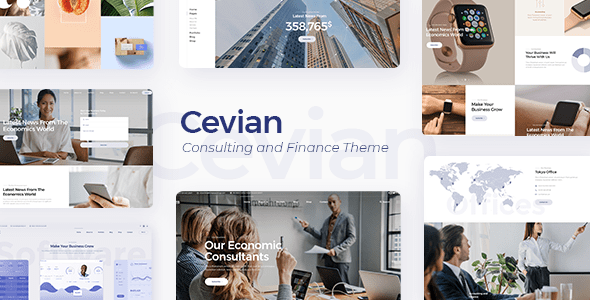 Cevian – Artistic Company and Startup Theme – WP Theme Download
