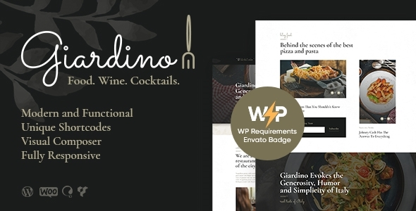 Giardino | An Italian Restaurant & Cafe WordPress Theme – WP Theme Download