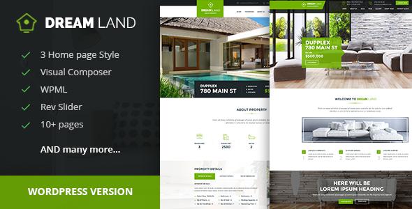 DREAM LAND- Single Property Real Property WordPress Theme  – WP Theme Download