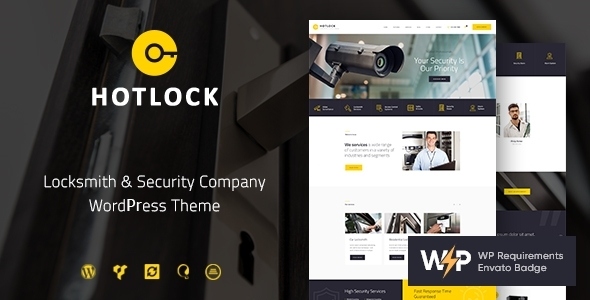 HotLock | Locksmith & Security Systems WordPress Theme  – WP Theme Download