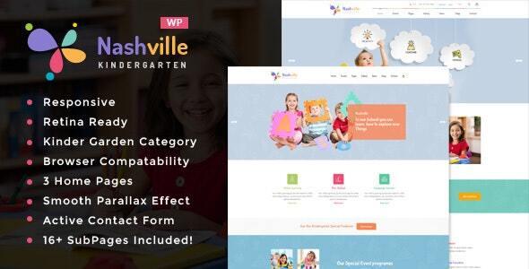 Nashville – Day Care & Kindergarten College WordPress Theme – WP Theme Download