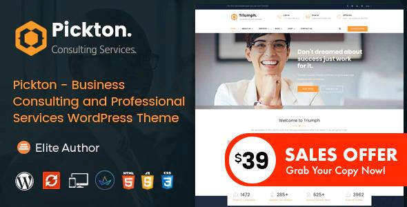 Pickton – Consulting WordPress Theme – WP Theme Download