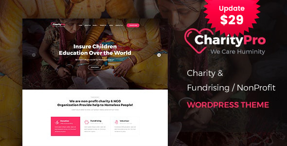 Charity Pro – Fundraising WordPress Theme – WP Theme Download