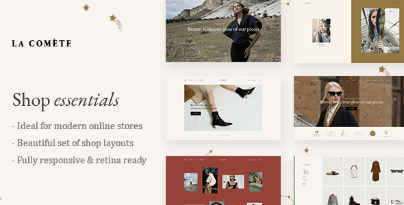 La Comète – Vogue and Clothes Store Theme – WP Theme Download