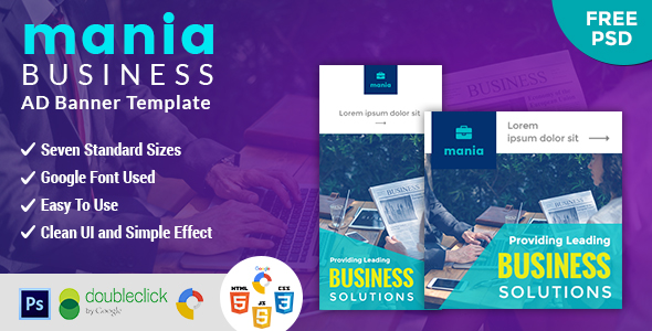 Mania | Enterprise HTML 5 Sharp Google Banner – PHP Script Download