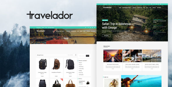 Travelador – Blog Tourism & WooCommerce Store Theme – WP Theme Download