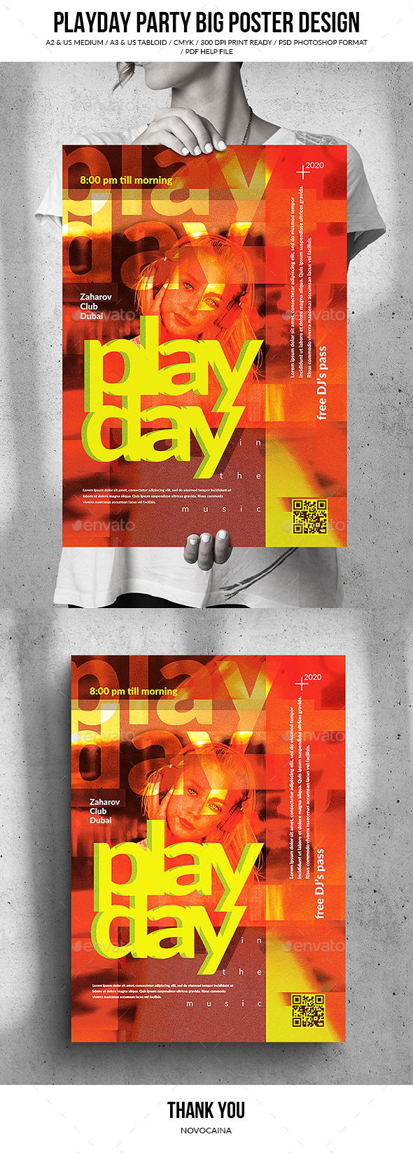 Flyers PSD – PlayDay Birthday party – Immense Song Poster Originate – Download
