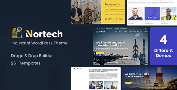 Nortech – A Industry and Engineering WordPress Theme – WP Theme Download