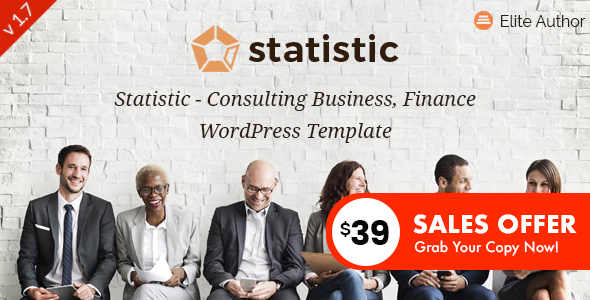 Statistic – Enterprise Consulting and Educated Products and services WordPress Theme – WP Theme Download