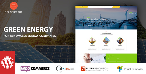Green Vitality – For Renewable Firm WordPress Theme – WP Theme Download