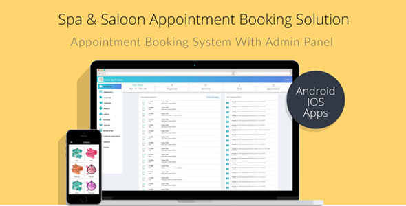 Spa & Salon Appointment Booking Resolution with Admin Panel ionic 3 and laravel – PHP Script Download