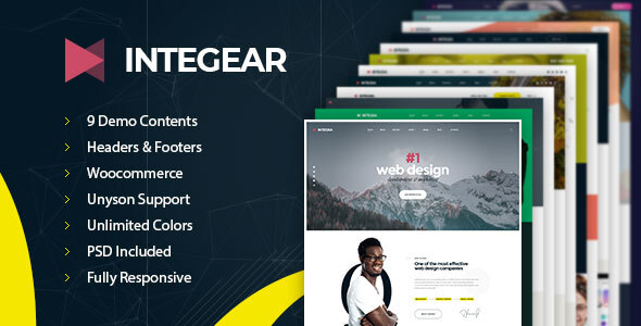 Integear – IT Firm & Company WordPress Theme – WP Theme Download