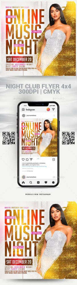 Flyers PSD – Online Song Night Flyer – Download