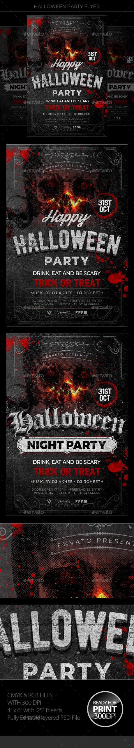 Flyers PSD – Halloween – Download
