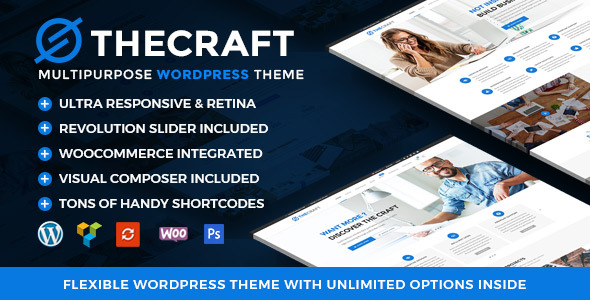 TheCraft | Responsive Multipurpose WordPress Theme – WP Theme Download