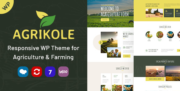 Agrikole | Responsive WordPress Theme for Agriculture & Farming – WP Theme Download