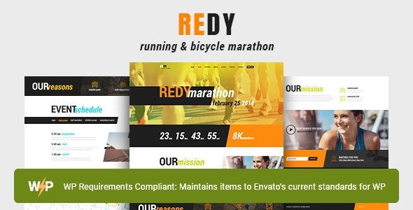 Redy | Marathon & Working Sports WordPress Theme – WP Theme Download
